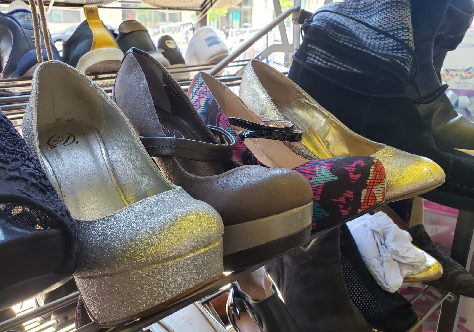 thrift store shoes